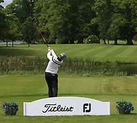 Daniel Seymour (Winchester Golf Academy) on the 1st tee during Round 1 of the Titleist &amp; Footjoy PGA Professional Championship at Luttrellstown Castle Golf &amp; Country Club on Tuesday 13th June 2017.<br /> Photo: Golffile / Thos Caffrey.<br /> <br /> All photo usage must carry mandatory copyright credit     (&copy; Golffile | Thos Caffrey)