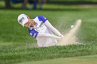 Sung Hyun Park (KOR) hits from the trap on 2 during round 3 of the 2018 KPMG Women's PGA Championship, Kemper Lakes Golf Club, at Kildeer, Illinois, USA. 6/30/2018.<br /> Picture: Golffile | Ken Murray<br /> <br /> All photo usage must carry mandatory copyright credit (&copy; Golffile | Ken Murray)