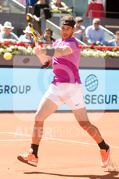 Spanish Rafa Nadal during Mutua Madrid Open Tennis 2017 at Caja Magica in Madrid, May 13, 2017. Spain.<br /> (ALTERPHOTOS/BorjaB.Hojas)
