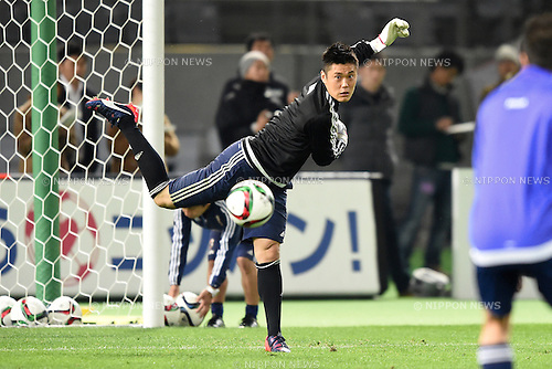 Eiji Kawashima (JPN), <br /> MARCH 30, 2015 - Football / Soccer : <br /> Japan training session <br /> at Tokyo Stadium in Tokyo, Japan. <br /> (Photo by AFLO SPORT)