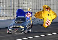 Feb 13, 2016; Pomona, CA, USA; NHRA top alcohol funny car driver Jonnie Lindberg during the Winternationals at Auto Club Raceway at Pomona. Mandatory Credit: Mark J. Rebilas-USA TODAY Sports