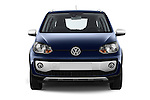 Car photography straight front view of a 2014 Volkswagen up! Cross up! 5 Door Hatchback 2WD Front View