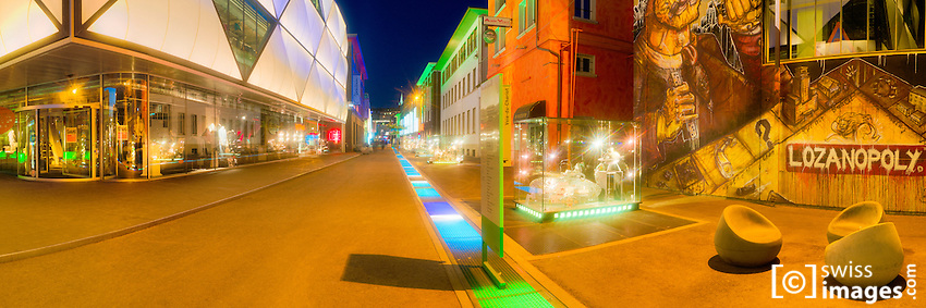 Night panorama from Le Flon in Lausanne