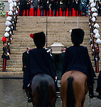 Fun&eacute;railles de la Reine Fabiola de Belgique, en la cath&eacute;drale des Saints Michel et Gudule &agrave; Bruxelles.<br /> Belgique, Bruxelles, 12 d&eacute;cembre 2014.<br /> .