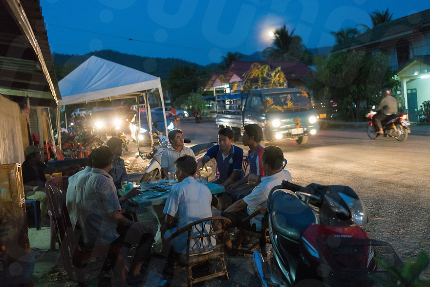 May 10, 2017 - Muang Nan (Laos). Young people get drunk after the end of the festival. All the village participate in the festivity. © Thomas Cristofoletti / Ruom