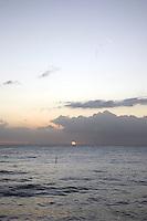 Sunset over Balneario de Rincón in Rincón, Puerto Rico on 31st December 2011.