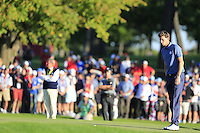Thomas Pieters (BEL)(Team Europe) on the 16th green during the Friday afternoon fourball at the Ryder Cup, Hazeltine national Golf Club, Chaska, Minnesota, USA.  30/09/2016<br /> Picture: Golffile | Fran Caffrey<br /> <br /> <br /> All photo usage must carry mandatory copyright credit (&copy; Golffile | Fran Caffrey)