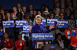 "NEW YORK, UNITED STATES - APRIL 18: One of the USA's Democratic Party's Presidential Candidate Hillary Clinton gives a speech as she meets with her supporters during a campaign rally themed ""Women for Hillary"" at Hilton Hotel in Manhattan, New York, NY, USA on April 18, 2016. Democrats will make primaries for New York region on 19th of April 2016 to decide the party's candidate. Cem Ozdel / Anadolu Agency  