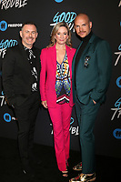 "LOS ANGELES - JAN 8:  Brad Bredeweg, Joanna Johnson, Peter Paige at the ""Good Trouble"" Premiere Screening at the Palace Theater on January 8, 2019 in Los Angeles, CA"