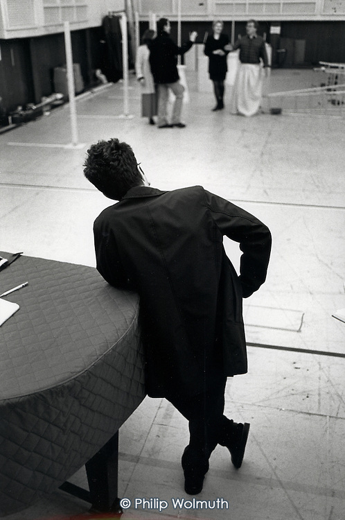 Director Atom Egoyan at Lilian Bayliss House, the ENO's West Hampstead rehearsal studios, during a rehearsal for the world premiere of Gavin Bryars opera Doctor Ox's Experiment.