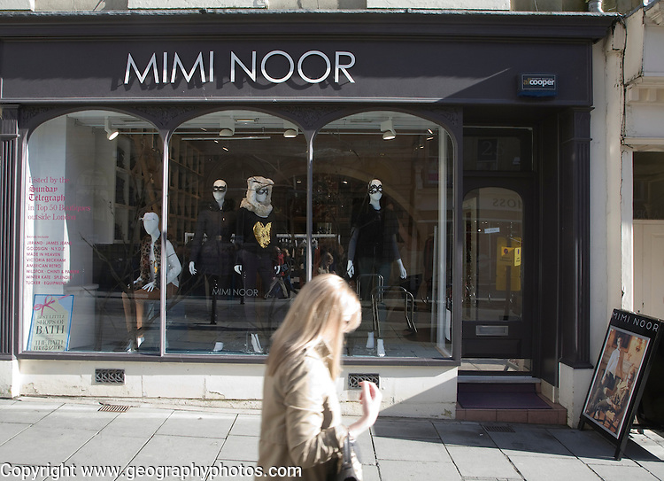 Mimi Noor women's clothing designer fashion shop, Milsom Street, Bath, Somerset, England