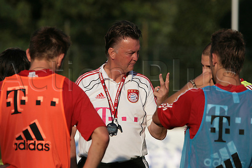 19/07/2010 Summer football training Bayern M in Arco, Trentino on 19/07/2010, ITALY. Louis van Gaal, head coach on 19/07/2010, in Arco, Italy.
