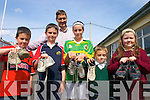 "ON THE BALL: ""The Twinning of the Kingdoms"" linking the Kingdom of Lesotho with the Kingdom of Kerry project visited Caherciveen on Tuesday when Kerry County Library collected football boots no longer used but in good condition for the young people of Lesotho. In order to facilitate this project, all Branches of Kerry County Library acted as a collection point on Tuesday last. Pictured with Maurice Fitzgerald, former Kerry footballer, at Caherciveen Library on Tuesday were Cian OLeary, Conor OLeary, Eilis OLeary, Mark OLeary and Linda ONeill"