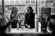 October 20th,1966. Manhattan, NYC. Charles Aznavour and his wife Ulla Thorsell.