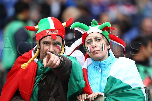27.02.2016. Stadio Olimpico, Rome, Italy. RBS Six Nations Championships. Italy versus Scotland. Italian fans