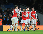 Arsenal's Olivier Giroud celebrates scoring his sides second goal with Theo Walcott<br /> <br /> Barclays Premier League- Arsenal vs Manchester City - Emirates Stadium - England - 21st December 2015 - Picture David Klein/Sportimage