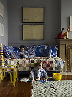 Antoine and Olivier amuse themselves in their bedroom