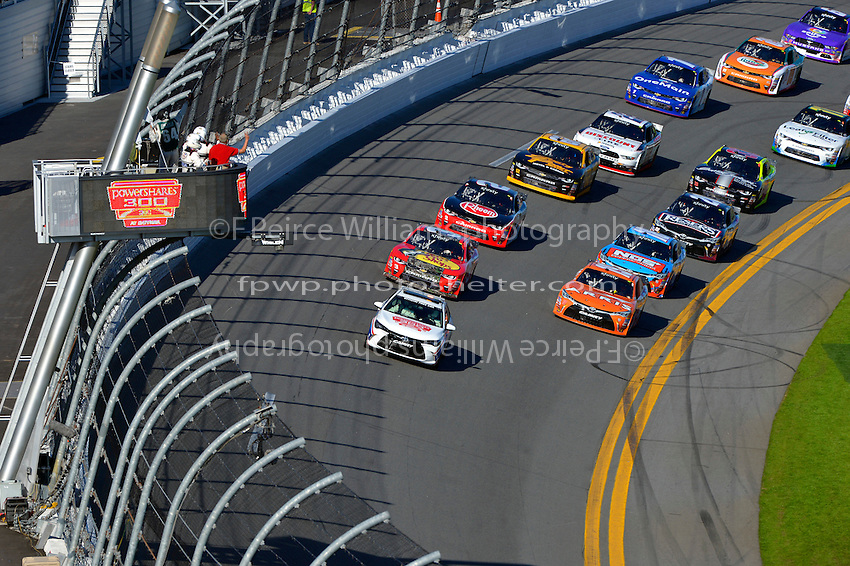 19-20 February, 2016, Daytona Beach, Florida USA<br /> A Toyota Camry Pace Car leads the field during the Parade and Pace laps.<br /> &copy;2016, F. Peirce Williams