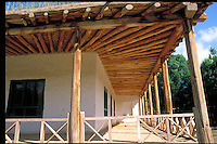 Poplar tree used as house roof frames