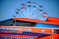 Boats and ferris wheels...