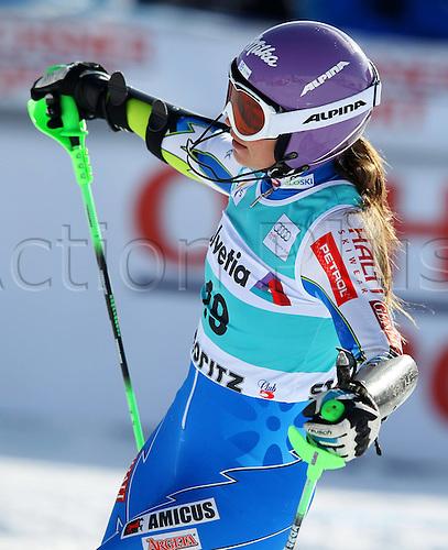 29.01.2012.  Ski Alpine FIS WC St Moritz Super Combination women  Ski Alpine FIS World Cup Super combination for women Slalom Picture shows Tina Maze SLO