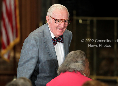 Retired Supreme Court Justice John Paul Stevens arrives for the swearing-in ceremony of his successor, Elena Kagan, at the Supreme Court Building in Washington, Saturday, August 7, 2010. .Mandatory Credit: J. Scott Applewhite - Pool via CNP