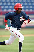 October 5, 2009:  Eury  Perez of the Washington Nationals organization during an Instructional League game at Space Coast Stadium in Viera, FL.  Photo by:  Mike Janes/Four Seam Images