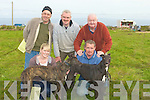 COURSING: Happy7 with nthe performence of their dogs at the Ballyheigue Coursing on Saturday. were: Josephine O'Connor,Tom O'Connor,Ed,Dan and Ned O'Sullivan...