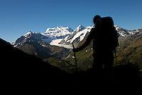 The Grand Combin massif, Switzerland.