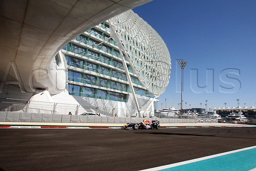 11.11.2011 Abu Dhabi, United Arab Emirates. Yas Marina Circuit, Mark Webber, Red Bull Racing, .., during the practice day of the FIA Formula One Grand Prix of Abu Dhabi UAE.