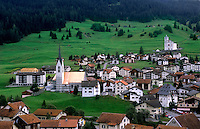Village of Balzers in Liechtenstein in the mountains in the small country next to Switzerland
