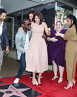 LOS ANGELES - MAR 25:  Jon Huertas, Sterling K. Brown, Mandy Moore, Justin Hartley, Chrissy Metz, Susan Kelechi Watson at the Mandy Moore Star Ceremony on the Hollywood Walk of Fame on March 25, 2019 in Los Angeles, CA