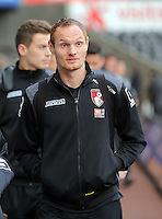 Shaun MacDonald of Bournemouth arrives before the Barclays Premier League match between Swansea City and Bournemouth at the Liberty Stadium, Swansea on November 21 2015