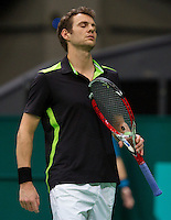 13-02-14, Netherlands,Rotterdam,Ahoy, ABNAMROWTT, Paul-Henri Mathieu(FRA)<br /> Photo:Tennisimages/Henk Koster