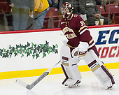 Joe Woll (BC - 31) - The Harvard University Crimson defeated the visiting Boston College Eagles 5-2 on Friday, November 18, 2016, at the Bright-Landry Hockey Center in Boston, Massachusetts.