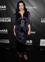 HOLLYWOOD, LOS ANGELES, CA, USA - OCTOBER 29: Dita Von Teese arrives at the 2014 amfAR LA Inspiration Gala at Milk Studios on October 29, 2014 in Hollywood, Los Angeles, California, United States. (Photo by Celebrity Monitor)