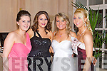 BELLS OF THE BALL: Showing their style at the North Kerry Harries Hunt Ball at the Ballygarry House hotel and Spa on Friday l-r: Maria O'Halloran, Marguerite Lynch, Amy Carmody and Saorsha Fitzgerald, Listowel and Moyvane...