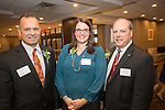 Waterbury, CT-17, October 2017-101717CM10 Social moments, from left to right board members Curtis Audibert Tamara Nyce Esq. and Mark Graveline are photographed during the Easter Seals annual dinner at the Courtyard by Marriott in Waterbury on on Tuesday.   Christopher Massa Republican-American
