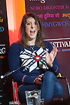 OIC - ENTSIMAGES.COM – Welsh-Italian cook Romina Chiappa talks at the fifteenth Hay Festival Winter Weekend which takes place in venues around Hay-on-Wye  on the 28th 29th & 30th November. This year the Festival is honoured with the attendance of Booker Prize-winners Graham Swift and Eleanor Catton, language experts David and Ben Crystal, Laura Bates, creator of the Everyday Sexism project, Danny Dorling on inequality & comedian Danny Ward. Hay-on-Wye, UK. 29th November, 2014. Photo: SnapDragon/Ents Images/OIC 0203 174 1069