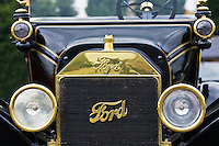 Front of vintage 1915  Model T Ford car, Gloucestershire, United Kingdom