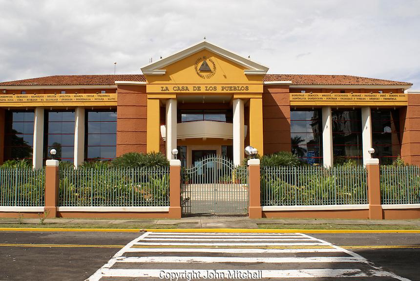 The new Casa Preidencial on Plaza de la Republica in downtown Managua, Nicaragua