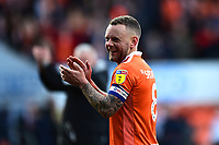 Blackpool's Jay Spearing applauds the fans<br /> <br /> Photographer Richard Martin-Roberts/CameraSport<br /> <br /> The EFL Sky Bet League One - Blackpool v Southend United - Saturday 9th March 2019 - Bloomfield Road - Blackpool<br /> <br /> World Copyright © 2019 CameraSport. All rights reserved. 43 Linden Ave. Countesthorpe. Leicester. England. LE8 5PG - Tel: +44 (0) 116 277 4147 - admin@camerasport.com - www.camerasport.com