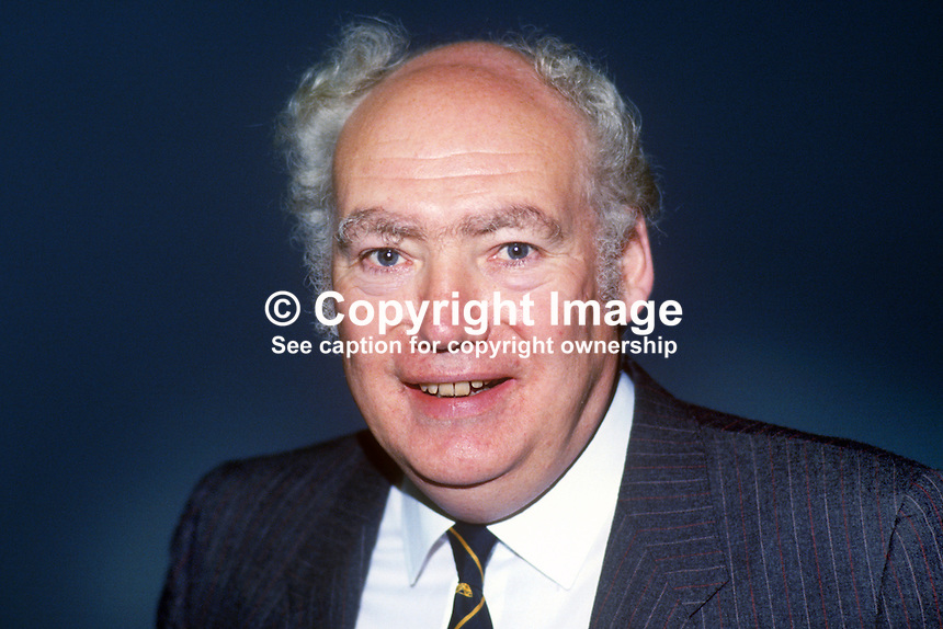 Jimmy Knapp, general secretary, NUR, National Union of Railwaymen, UK, 19860905JK5<br />