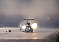 Nov 10, 2018; Pomona, CA, USA; NHRA top fuel driver Antron Brown during the Auto Club Finals at Auto Club Raceway. Mandatory Credit: Mark J. Rebilas-USA TODAY Sports