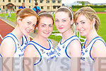 Pretty Sinead O'Connor, Molly McGilton, Ciara Walsh and Aisling Ni? Nuaillain Tralee harriers keeping fit at the Kerry AAI Championships in Castleisland on Sunday   Copyright Kerry's Eye 2008