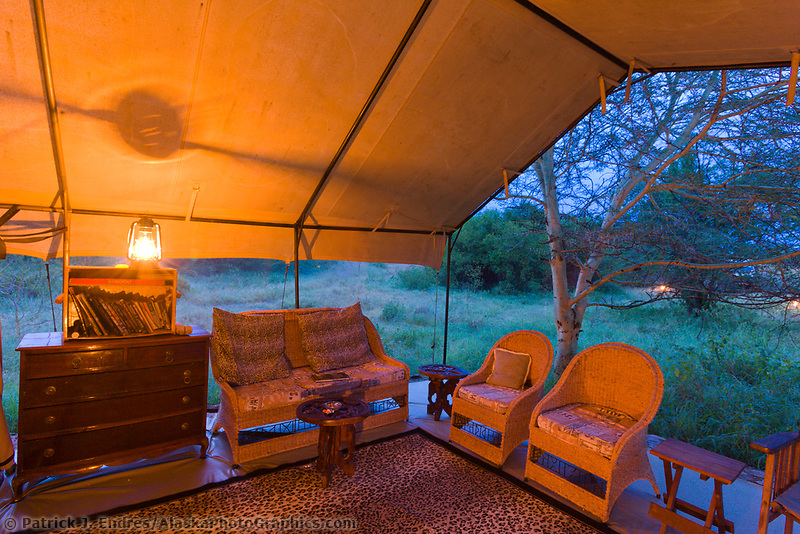 Luxury tented camp in Masai Mara, Kenya