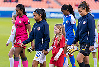 HOUSTON, TX - JANUARY 31: Shirley Cruz #10 of Costa Rica enters the field during a game between Haiti and Costa Rica at BBVA Stadium on January 31, 2020 in Houston, Texas.