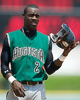 Augusta second baseman Marcus Sanders at Fieldcrest Cannon Stadium in Kannapolis, NC, Wednesday, May 2, 2007.