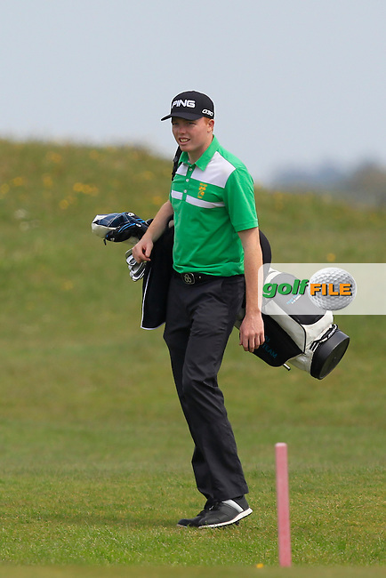 Robin Dawson (Waterford) on the 3rd during the Flogas Irish Amateur Open Championship Am-Am at Royal Dublin on Monday 9th May 2016.<br /> Picture:  Thos Caffrey / www.golffile.ie