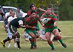 Grant Henson clears the ball. Pat Walsh memorial pre-season rugby game between Manurewa & Waiuku played at Mountfort Park, Manurewa on 5th April, 2008. Waiuku led 12 - 8 at halftime, though Manurewa went on to win 30 - 23.